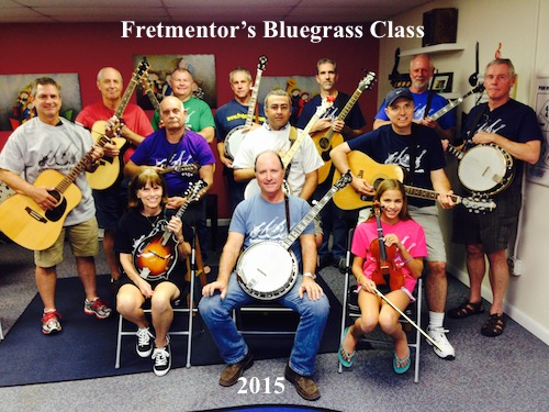 Fretmentor's Bluegrass Class meets every Wednesday in Jupiter, Florida