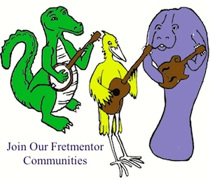 Fretmentor offers various social area of interest for musicians of all levels