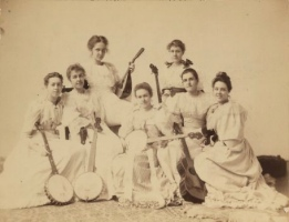 1891 Group Portrait of Radcliffe's Banjo Club