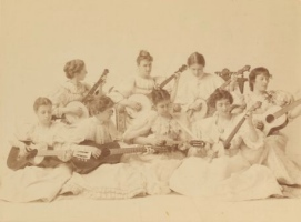 1892 Group Portrait of Radcliffe Banjo Club